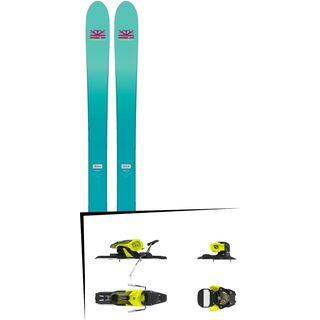 Set: DPS Skis Nina F99 Foundation 2018 + Salomon Warden 11 yellow/black