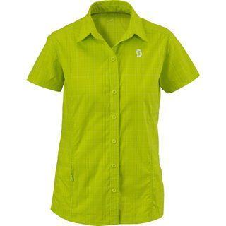 Scott Shirt Womens Highview s/sl, lime punch plaid - Radtrikot