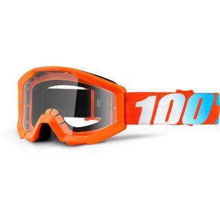 100% Strata Youth, orange/Lens: clear - MX Brille