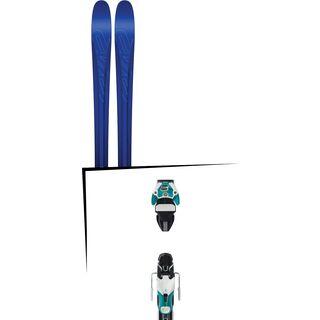 Set: K2 SKI Pinnacle 88 2017 + Atomic Warden 11 DT 90 mm, white/mint - Skiset