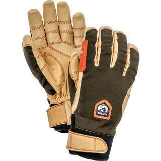 Hestra Ergo Grip Active 5 Finger dark forest/natural brown