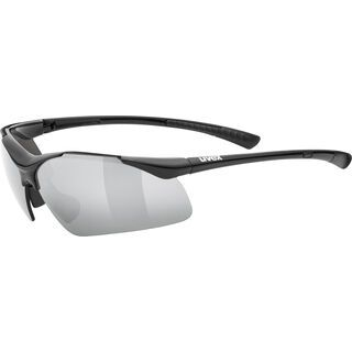 uvex sportstyle 223, black/Lens: litemirror silver - Sportbrille