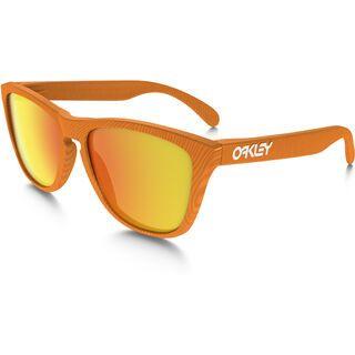Oakley Frogskins Fingerprint, atomic orange/Lens: fire iridium - Sonnenbrille