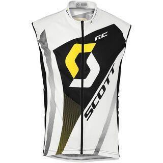 Scott RC Pro w/o sl Shirt, white/yellow rc - Radtrikot