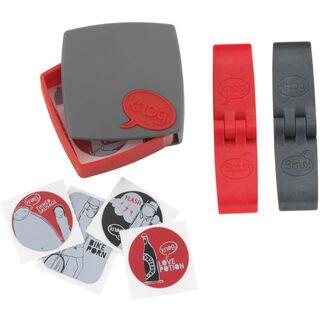 Knog PC Patches Kit, grau/rot - Flickzeug