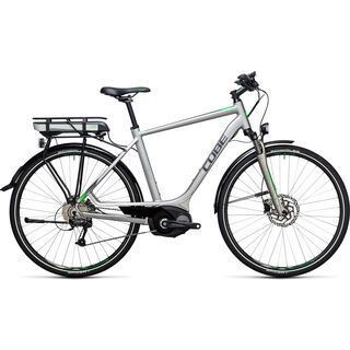 Cube Touring Hybrid ONE 500 2017, silver´n´flashgreen - E-Bike