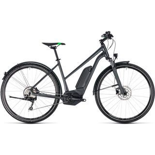 Cube Cross Hybrid Pro Allroad 400 Trapeze 2018, grey´n´flashgreen - E-Bike