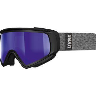 uvex Jakk TO, black mat/Lens: mirror blue - Skibrille