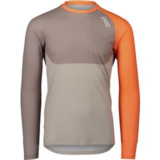 POC MTB Pure LS Jersey zink orange/moonstone grey/lt sandstone beige