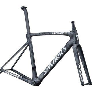 Specialized S-Works Roubaix Frameset Team 2020, black white team camo