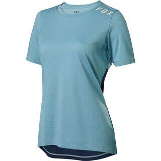 Fox Womens Ranger Drirelease SS Jersey, light blue - Radtrikot
