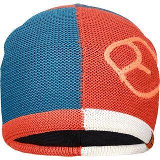 Ortovox Patchwork Beanie, blue sea - Mütze