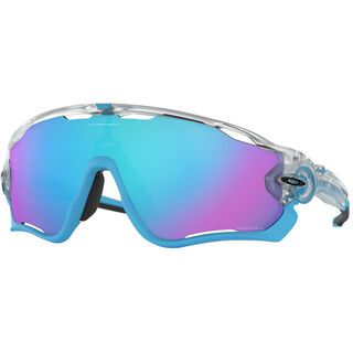Oakley Jawbreaker Prizm Crystal Pop Collection, matte clear/Lens: prizm sapphire - Sportbrille