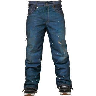 686 Parklan Destructed Denim Pant, Indigo - Snowboardhose