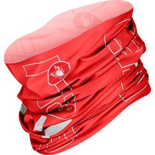 Castelli LW Head Thingy, red/white - Multifunktionstuch