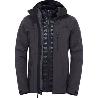The North Face Mens ThermoBall Triclimate Jacket, black heather - Thermojacke