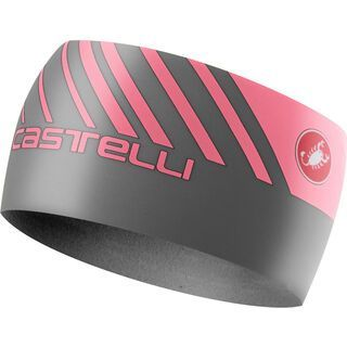 Castelli Arrivo 3 Thermo Headband, gray/giro pink - Stirnband