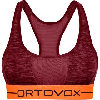 Ortovox 185 Merino Rock'n'Wool Sport Top W, dark blood blend - Sport BH