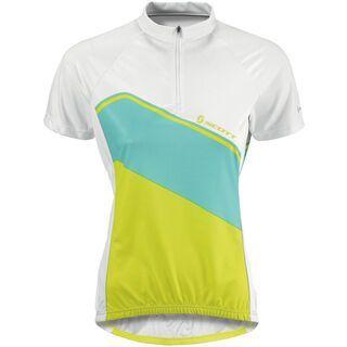Scott Shirt Womens Classic s/sl, white/lime green - Radtrikot
