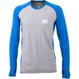 Mons Royale Supa Tech LS, bay blue grey marl - Funktionsshirt