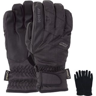 POW Gloves Warner Gore-Tex Short Glove + Merino Liner, black - Snowboardhandschuhe
