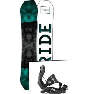 Set: Ride Helix 2017 + Flow Nexus Hybrid 2017, black - Snowboardset