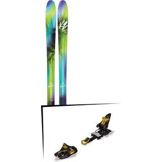 Set: K2 SKI Fulluvit 95 2017 + Marker Kingpin 13 75-100 mm, black/gold - Skiset