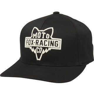 Fox Flathead 110 Snapback Hat, black/white - Cap