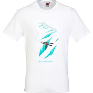 The North Face Mens SS Never Stop Exploring Series Tee, TNF White - T-Shirt