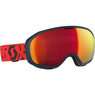 Scott Fix, dark blue/red/Lens: ampli red chr - Skibrille