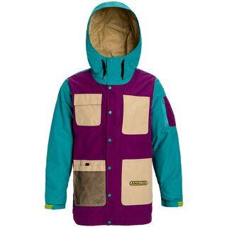 Analog Solitary Jacket, safari/green-blue slate/charisma - Snowboardjacke