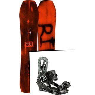 Set: Ride Warpig Large 2017 + Nitro Pusher 2017, black - Snowboardset