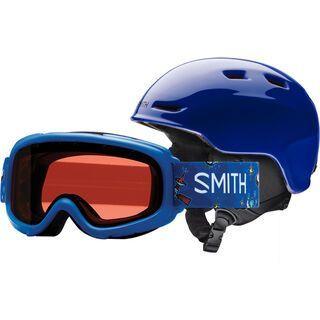 Smith Zoom Jr/Gambler 53-58 cm, cobalt shuttles/Lens: rc36 - Snowboardhelm
