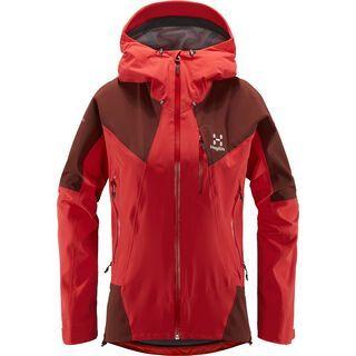 Haglöfs L.I.M Touring Proof Jacket Women, hibiscus red/maroon red - Skijacke