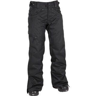 686 Womens Mannual Patron Insulated Pant, Black Herringbone Denim - Snowboardhose