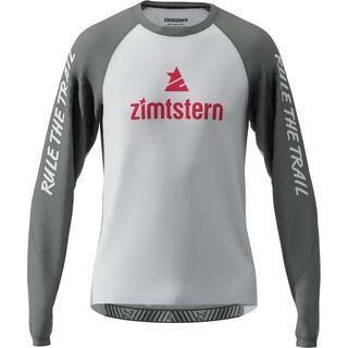 Zimtstern PureFlowz Shirt LS, grey/metal/red - Radtrikot