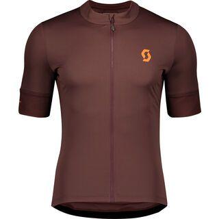 Scott Endurance 10 S/Sl Men's Shirt, maroon red/orange pumpkin - Radtrikot