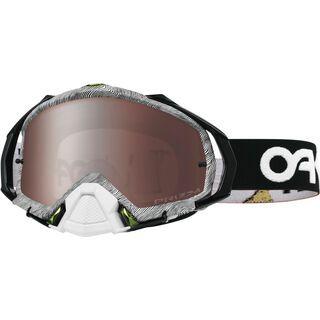 Oakley Mayhem Pro MX Factory Pilot Thumbprint Prizm, Lens: prizm mx black iridium - MX Brille