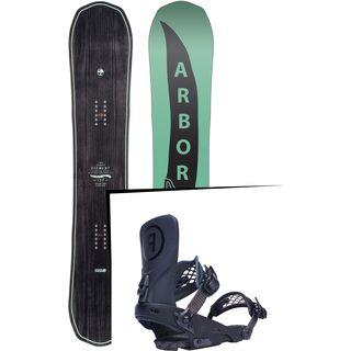 Set: Arbor Element Mid Wide 2017 + Ride LTD, black - Snowboardset