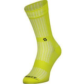 Scott Performance Crew Socks sulphur yellow/black