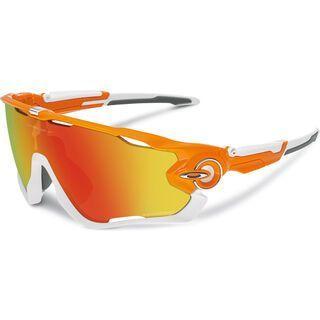 Oakley Jawbreaker, atomic orange/fire iridium polarized - Sportbrille