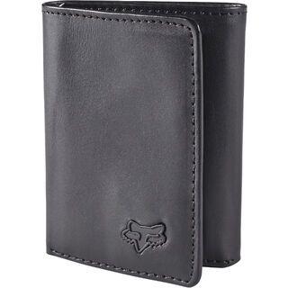Fox Leather Trifold Wallet, black - Geldbörse