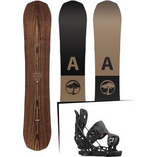 Set: Arbor Element Premium 2017 + Flow NX2 2016, black - Snowboardset
