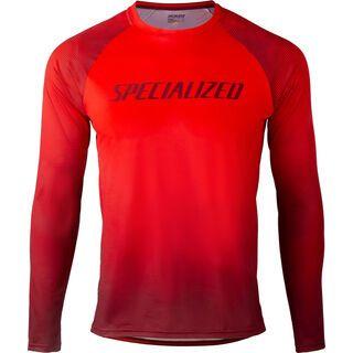 Specialized Enduro Air Longsleeve Jersey, rocket red/crimson - Radtrikot