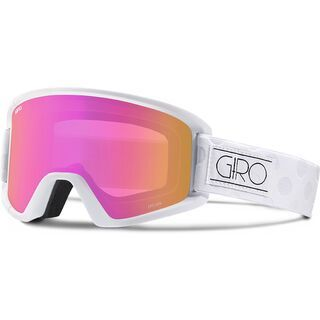 Giro Dylan inkl. Wechselscheibe, white tonal dots/Lens: amber pink - Skibrille