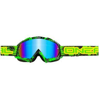 ONeal B-Flex Hendrix, black green/lens: radium - MX Brille