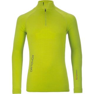 Ortovox Merino Competition Long Sleeve Zip Neck, happy green - Funktionsshirt