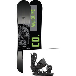 Set: Ride Wild Life 2017 + Flow NX2 2016, black - Snowboardset