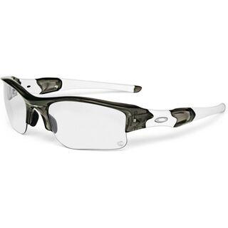 Oakley Flak Jacket XLJ, Grey Smoke/Clear Black Iridium Photocromic - Sportbrille