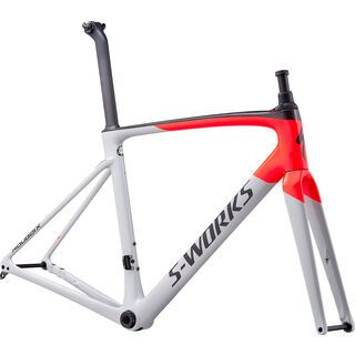 Specialized S-Works Roubaix Frameset gloss/satin - dove gray/rocket red/back 2020